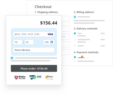 Recurring payments & ability to save credit cards